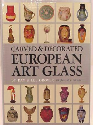 Ray & Lee Grover Carved & Decorated European Art Glass Book