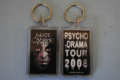 Alice Cooper Cracked Face Psycho Drama Tour Keychain