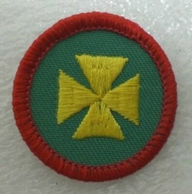 Girl Scout FIRST AID BADGE Yellow Maltese Cross Ambulance Medic Patch