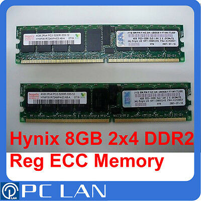 Hynix 8Gb (2x 4Gb) PC2-3200R 400Mhz Reg ECC Server Ram 41Y2815 43X4975