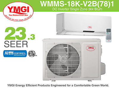 18000 BTU Mini Split Air Conditioner SEER 23.3 YMGI with MITSUBISHI Cool & Heat