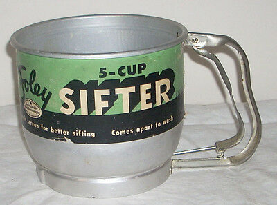 Vintage Foley 5 Cup Sifter with Original Paper Label