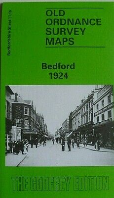 Old Ordnance Survey Detailed Maps  Bedford Bedfordshire 1924 Godfrey Edition New