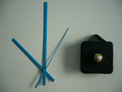QUARTZ CLOCK MOVEMENT MEDIUM SPINDLE 130mm BLUE HANDS