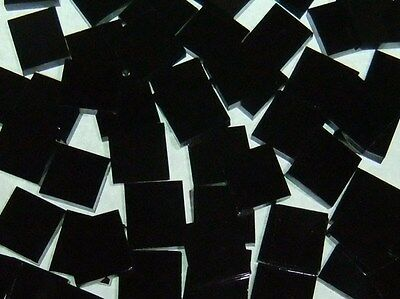BLACK OPAL handcut stained glass mosaic tiles #190