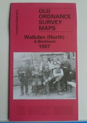 Old Ordnance Survey Map Walkden (North) Blackleach near Manchester 1907 S95.10