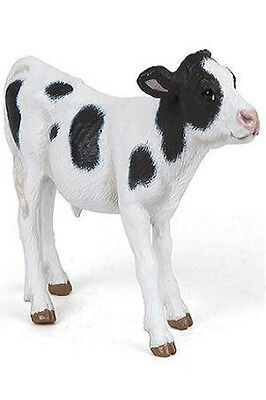 Papo Black and White Calf cow farm barn animal toy figure pretend play 51149 NEW