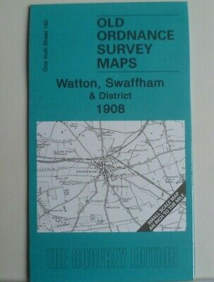 Old Ordnance Survey Maps Watton Swaffham Stoke Ferry & District 1908 Godfrey Ed