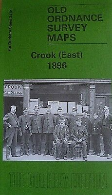 Old Ordnance Survey Maps Historic Town Crook (East) nr Durham 1896 S34.01 New