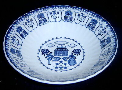 J&G Meakin Royal Staffordshire Blue Sampler Vegetable Serving Bowl SH