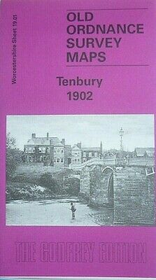 Old Ordnance Survey Maps Market Town of Tenbury Worcestershire 1902 Godfrey Ed