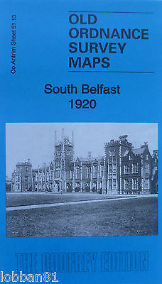 Old Ordnance Survey Map South Belfast Co Antrim 1920 sheet 61.13 New Folded Map