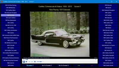 125 Cadillac TV Commercials & Promotional Videos 1950 - 2012 DVD-ROM