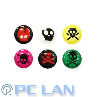 6 PCS Skeleton C Home Button Sticker for iPhone 3G/3GS/4/4S iPad 1/2 + Bonus Set