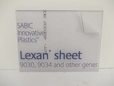 "12 mm Lexan Polycarbonate sheet 100 mm (3.93"") square Virtually unbreakable"