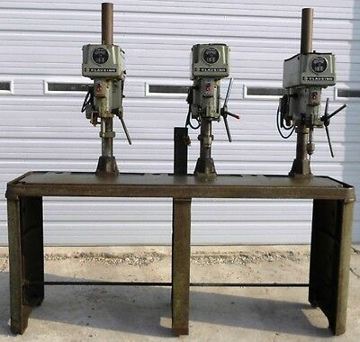 Clausing 3 Spindle Drill Press, Model #1635, Serial #118950, #118951, #118952