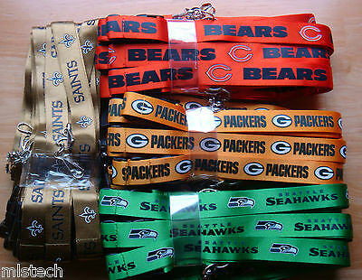 NFL Breakaway Lanyard Keychain ALTERNATE COLOR Official licensed ( PICK TEAMS )