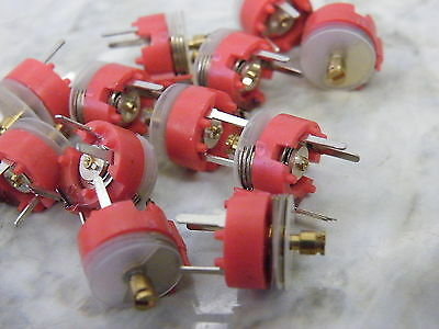 100x Trim Capacitor Trimmer Film 5 - 90pF Mullard Philips Red  MTC-006