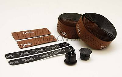 Deda Mistral Leather Effect PERFORATED Bar Tape BROWN