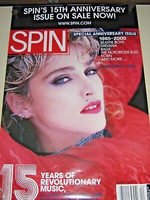 "Madonna / Rare Promo Poster / ""Spin Magazine cover"" - Exc.New cond. / 24 x 36"""