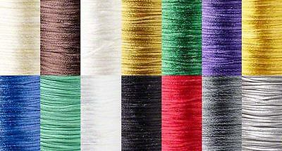 432 Feet 1.5mm Thick Mousetail Satin Beading Cord String Cording For Beads