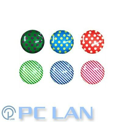 6 PCS Dot & Stripe Home Button Sticker for iPhone 3G/3GS/4/4S + Bonus Set