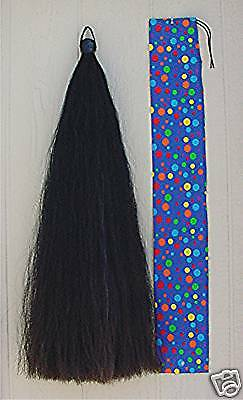 "Big & Fluffy 2# Show Horse Tail Extension BLACK 38-40"" KATHYS TAILS Made in USA!"