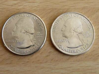 US National Parks State Quarter Mint New Editions Coin 25 cents 2010 2011