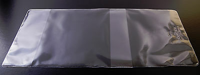 10x CLEAR PLASTIC PAPERBACK BOOK COVERS 198mm size