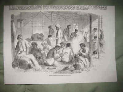 Antique 1857 Hong Kong China Chinese Food Dinner Dining Print Cooking Asia Nr