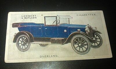 1923 OVERLAND Touring Car Lambert & Butler UK Cigarette Card