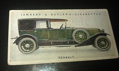 1923 RENAULT  Lambert & Butler UK Cigarette Card