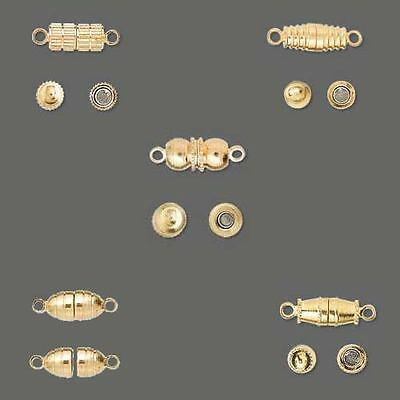 Huge Wholesale Lot of 100 Gold Plated Medium Weight Magnetic Closure Clasps