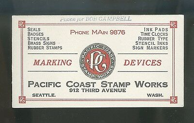 Bright Clean Ink Blotter Seattle Rubber Stamps Signs
