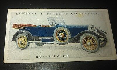 1922 ROLLS ROYCE 40-50hp  Touring Car  Lambert & Butler UK Cigarette Card