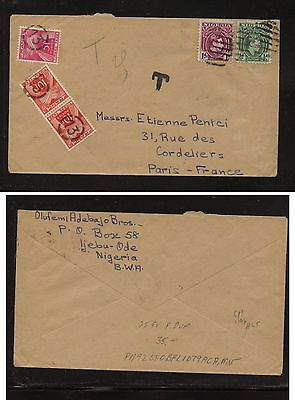 Great  Britain post card to France postage due 1905 nice markings        HC0331