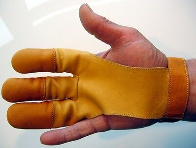 Quality Leather Shooting Glove, Get A Clean Loose For Longbow