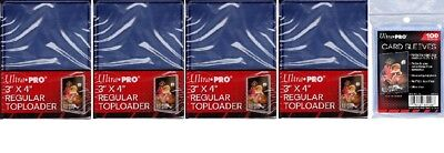 Ultra Pro 100 Toploaders & 100 Card Sleeves Free Ship Top Loaders Brand New