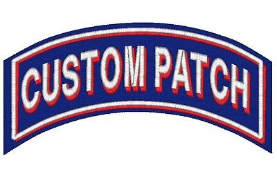 Custom Embroidered Name Patch FELT Shadow Back Rocker Motorcycle Biker Club Tag