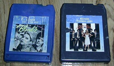 BLONDIE - TWO 8 Track Tapes PARALLEL LINES & EAT TO THE BEAT Rare Collectibles!!