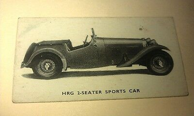1949 HRG Sports Car  Orig Kelloggs Swap Card