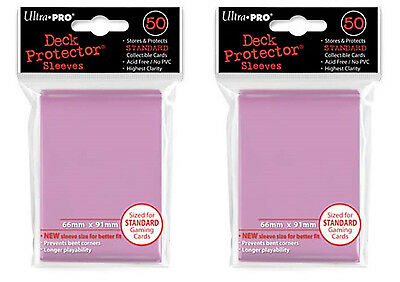 Ultra Pro MTG Magic the Gathering 100 Deck Protectors Pink