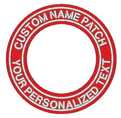Custom Embroidered Name Patch FELT CIRCLE Business Iron on Biker Motorcycle 6""