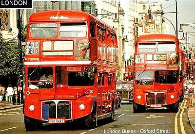(08722) Postcard: London Bus No. 98 to Willesden in Oxford Street