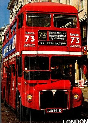 (08727) Postcard: London Bus No. 73 to Tottenham Swan