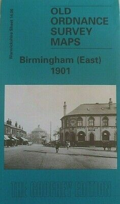 Old Ordnance Survey Maps Birmingham East Warwickshire 1901 Godfrey Edition New