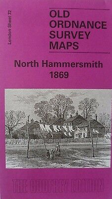 Old Ordnance Survey Detailed Maps North Hammersmith  London 1869 Godfrey Edition