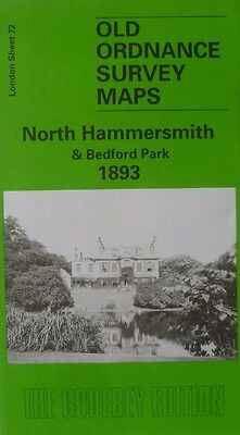 Old Ordnance Survey Maps North Hammersmith & Bedford Park London 1893 Godfrey Ed