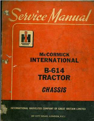 McCormick International Tractor B614 Workshop Manual