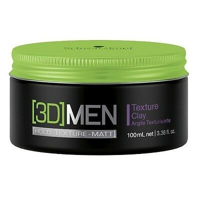 SCHWARZKOPF 3D MENSION MEN TEXTURE CLAY SUPER STRONG 100ml NEU